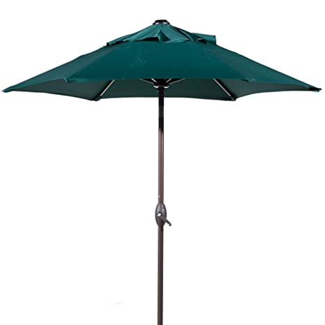Abba Patio 7 1/2 Ft. Round Outdoor Market Patio Umbrella With Push