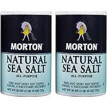 Morton Salt Natural Sea Salt - 26 oz - 2 Pack