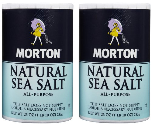 Morton Salt Natural Sea Salt - 26 oz - 2 Pack by Morton Salt