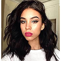 "Human Hair Wigs for Women Glueless Lace Front Wigs For Black Women Body Wave Brazilian Remi Human Hair Front Lace Wig With Baby Hair (12"" natural color)"
