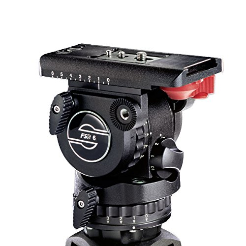 Sachtler FSB 6T Pro Video Fluid Head, (75mm Ball) 3+3 Damping, Touch & Go Plate DV, & Single Pan Bar