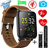 Xenzy Waterproof Smart Watch Men Women Fitness Tracker Heart Rate Monitor Blood Pressure Calorie Pedometer Sleep Sport Activity Tracker Swimming Wristband Health Smart Watch Android iOS
