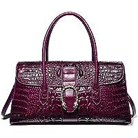 PIJUSHI Womens Top Handle Handbags and Purses Crocodile Bags for Laides 68031
