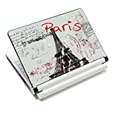 "iColor Laptop Skin Sticker Soft Vinyl Sticker Decal Cover for 12"" 13"" 13.3"" 14"" 15"" 15.4"" 15.6"" Sony HP Asus Acer Toshiba Dell Notebook Paris"