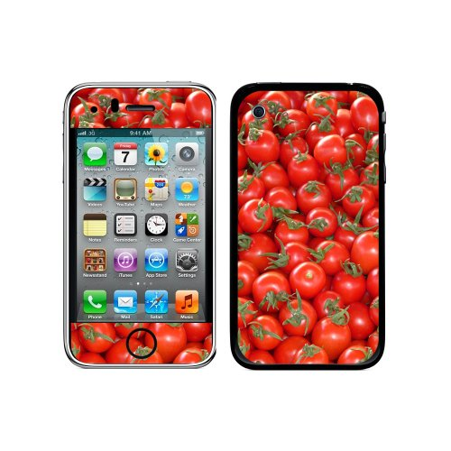 Iphone 3g Cherry (Graphics and More Protective Skin Sticker Case for iPhone 3G 3GS - Non-Retail Packaging - Tomatoes - Cherry Tomato)