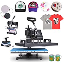 VEVOR Heat Presses 12 X 15 Inch 5 in 1 Digital Multifunctional Sublimation T Shirt Heat Press Machine 900W 360 Degree Rotation Heat Press Machine for T shirts Hat Mug Cap Plate (5IN1 12X15INCH 900W)