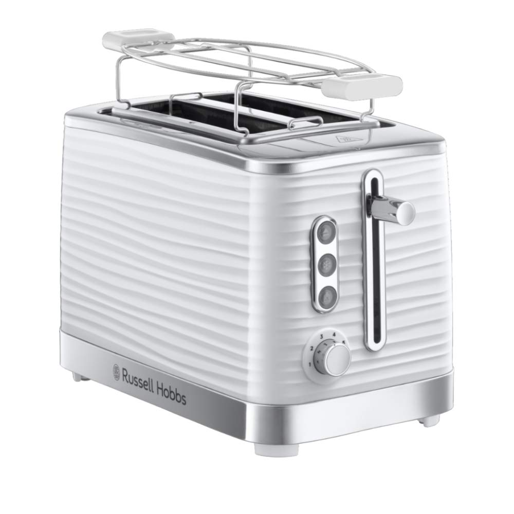 Russell Hobbs Grille Pain, Toaster Extra Large Inspire, Contrôle Brunissage, Décongéle et Réchauffe, Chauffe Viennoiserie Inclus - 24370-56 product image