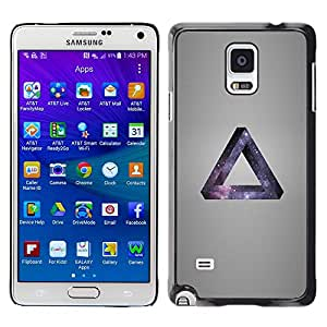 KLONGSHOP // Cubierta de piel con cierre a presión Shell trasero duro de goma Protección Caso - Galaxia Triángulo - Samsung Galaxy Note 4 //