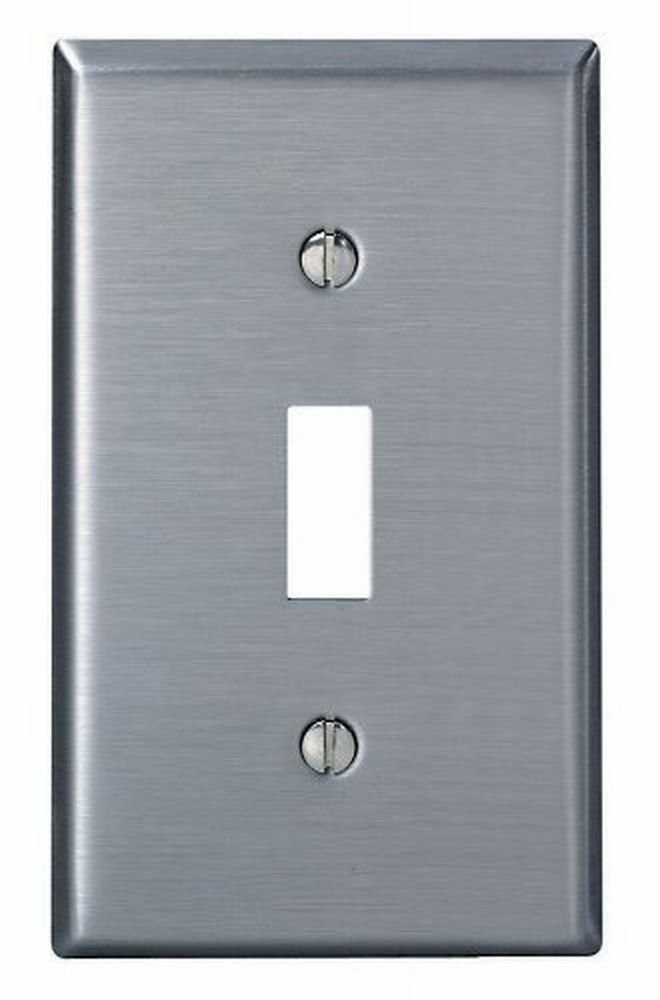 Leviton 004-84001-04 Single Gang Stainless Steel Single Toggle Wallplate - 20 Pack
