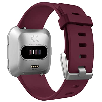 OenFoto Sport Correa Compatible Fitbit Versa &Fitbit Versa Lite Edition, Pulsera Reemplazo Silicona Suave Banda para Fitbit Versa Smartwatch, Mujer ...
