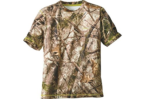 - Cabela's Youth Performance Camo Hunting Short-Sleeve T-shirt, Zonz Woodlands, Small Regular