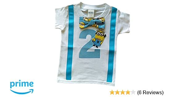 Amazon Perfect Pairz 2nd Birthday Shirt Boys Minions Tee Clothing