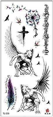 Etiquetas engomadas del tatuaje damas brazo flores dibujo acuarela ...