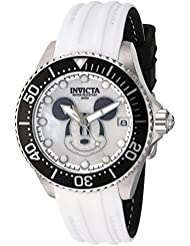 Invicta Womens Disney Limited Edition Automatic Stainless Steel and Silicone Casual Watch, Color:White (Model...