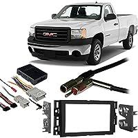 Fits GMC Sierra 07-11 Double DIN Aftermarket Harness Radio Install Dash Kit