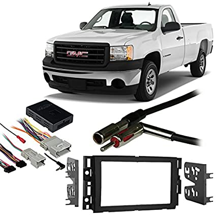 51b2LHdPgdL._SX425_ amazon com gmc sierra 07 13 double din aftermarket stereo harness