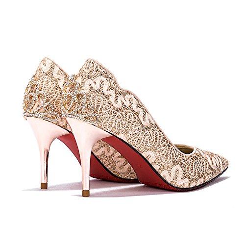 L De Rouge 8 Disponibles Mode Uk3 Chaussures Liangjun La Tailles 215mm Talons Mariage Ue33 Femmes Taille 3 Bottines De À Or Couleurs Hauts couleur xZYOZ1qTw