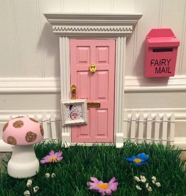 Enchanted Pink Glitter Fairy Door