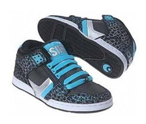 Osiris South Bronx pattinare scarpe Ragazze Nere / Invasion / Ako, Schuhgrösse:37.5