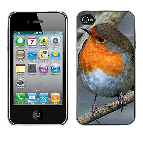 Premio Sottile Slim Cassa Custodia Case Cover Shell // F00021330 songbird Fat // Apple iPhone 4 4S 4G