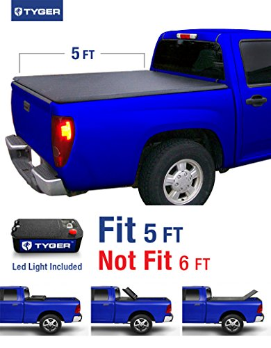 Tyger Auto TG-BC3C1001 TRI-FOLD Truck Bed Tonneau Cover 2004-2012 Chevy Colorado / GMC Canyon; 2006-2008 Isuzu I350 | Fleetside 5' Bed