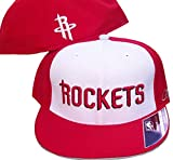 Houston Rockets Basketball Fitted Hat Size 7 3/4 Authentic Hardwood Classics 2 Tone Cap - Red & White