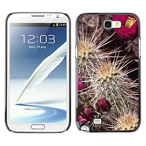Soft Silicone Rubber Case Hard Cover Protective Accessory Compatible with SAMSUNG GALAXY NOTE 2 & N7100 - Plant Nature Forrest Flower 91