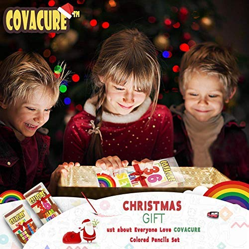 Colored Pencils Set for Adult and Kids - COVACURE Premier Color Pencil Set With 36 Colouring Pencils Sharpener and Canvas Pencil Bag for Kids and Adult Coloring Book. Ideal for Christmas Gifts by Covacure (Image #1)