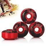 Tera UGIN 4Pcs of New Version Wolf Series Skateboard Wheels 52x 30mm Red