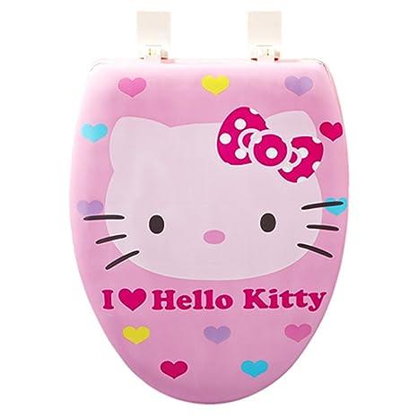 Amazon.com: Hello Kitty (F-12) Cubierta de Tapa de baño ...