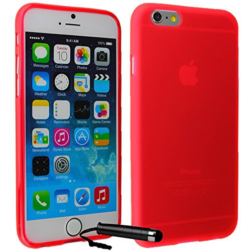 Ownstyle4you - APPLE IPHONE 6S PLUS Coque Housse Etui PREMIUM Gel Souple TPU ROUGE Protection Pare-Chocs Goutte Absorption des Chocs + Protecteur d'écran tactile