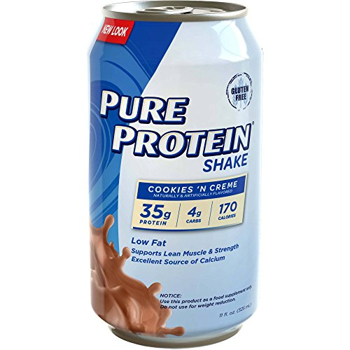 Pure Protein 35g Shake - Cookies & Creme, 11 Ounce (Pack of 12) (Pure Protein 35g)