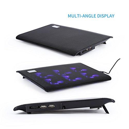 Laptop Cooling Pad,LESHP USB Laptop Fan (6 fans) by LESHP (Image #1)