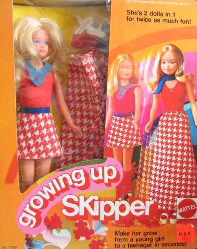 Barbie GROWING UP SKIPPER DOLL w Outfits - 2 Dolls in 1 For Twice as Much Fun! (1974 Mattel (Skipper Outfit)