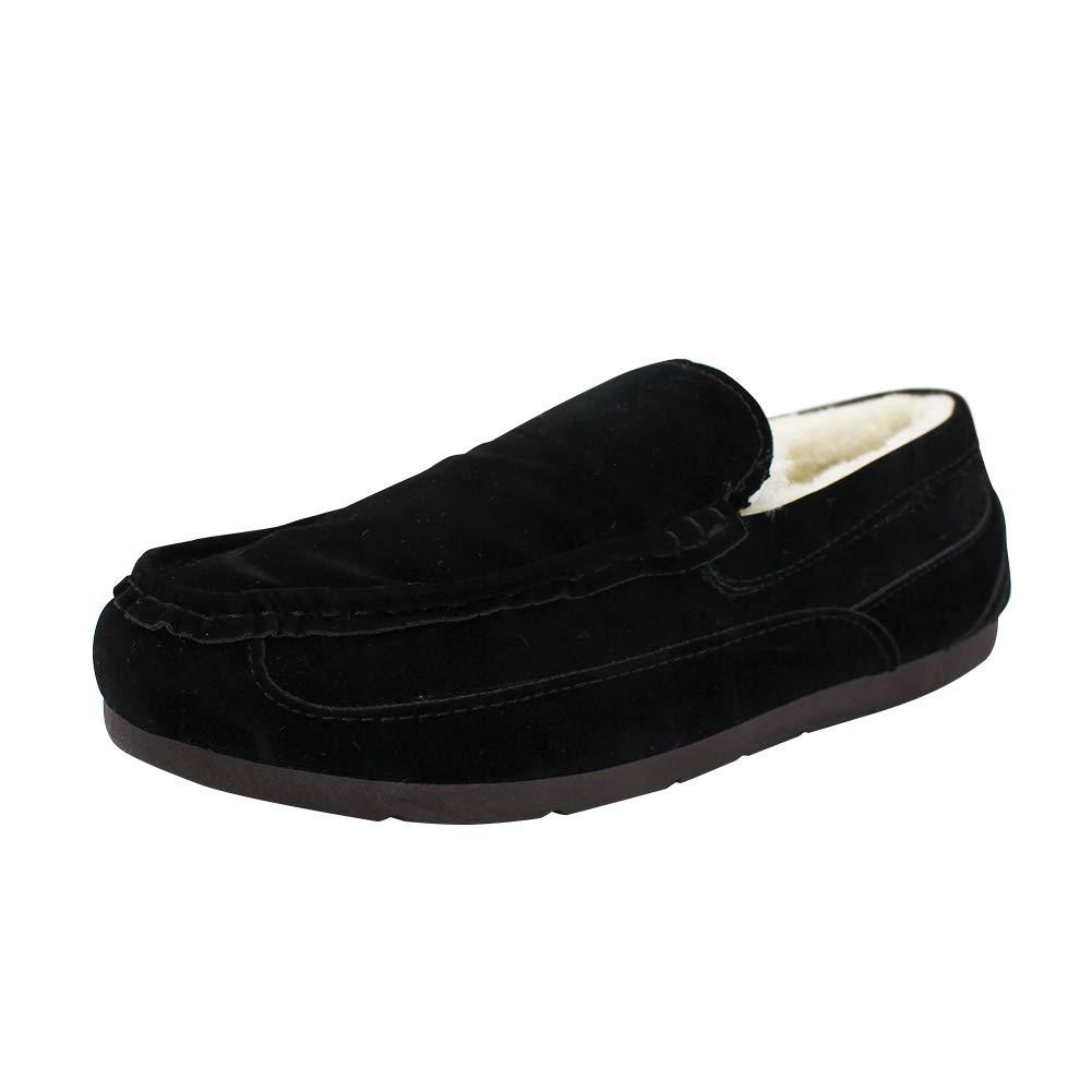 TALLA 44 EU. Yudesun Zapatos Mocasines Hombre - Hombres Interior Aire Libre Zapatos Antideslizante Goma Suela Nieve Barco Cubierta Cuero Conducción Casual Moda