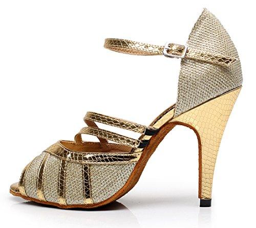 TDA - Zapatos con tacón mujer 8.5cm Heel Gold