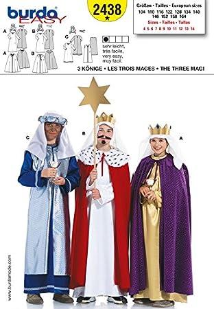 Burda Kinder Schnittmuster 2438–3 heiligen Könige Kostüm Muster ...