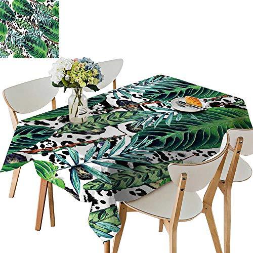 UHOO2018 Eco-Friendly and Safe pal calathea Leaves Jungle Foliage Square/Rectangle Multi Colors & Sizes,52 x 716inch -