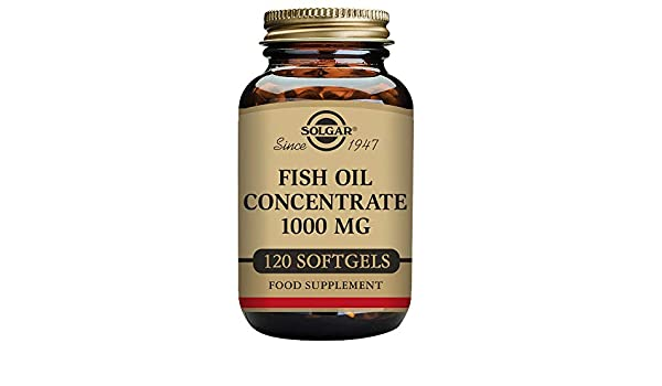 Solgar 1000 mg Fish Oil Concentrate Softgels - Pack of 120: Amazon.es: Salud y cuidado personal