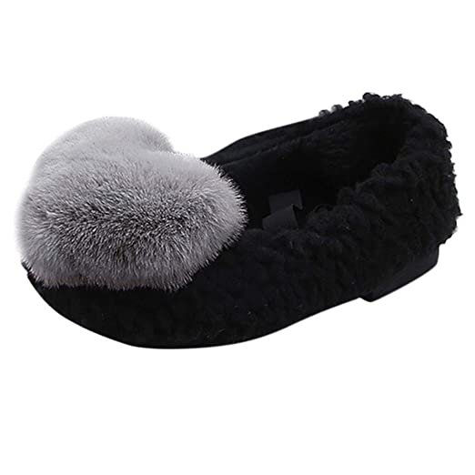 ed0dd14c4fa Amazon.com: Children Baby Girls Bunny Soft Warm Heart Print Shoes ...