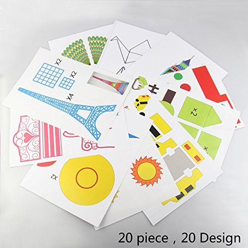 3D Pens templates,3D Pen Paper Mold for 3D printing pen,20 Different Designs,for Better Create Beautiful Works