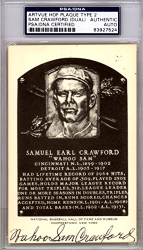 Wahoo-Sam-Crawford-Autographed-HOF-Postcard-Detroit-Tigers-Signed-Twice-PSADNA-83927524