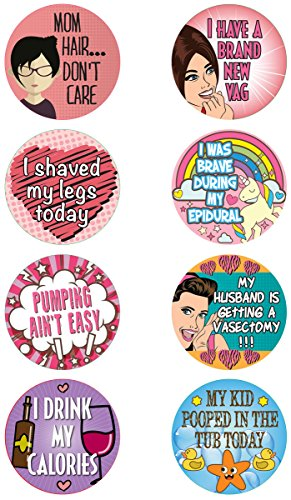 Adult Achievement Stickers (Mom Version) - Perfect for Baby Shower Gifts or (Adult Baby Shower Games)