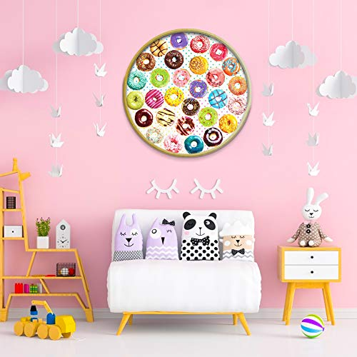 LOVESTOWN Donut Puzzles, 1000 Piece Round Jigsaw Puzzles Paper Jigsaw Puzzles Large Puzzle Game for Kids Educational Intelligent Adult Decompressing Fun Family Game