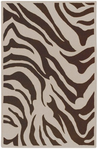 Surya Goa G-169 8' x 11' Chocolate Ecru Rug Goa Chocolate