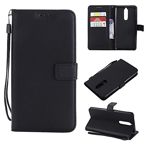 Nokia 8 Case,Nokia 8 Case, Case Slim Premium PU Leather Wallet Snap Case Case Slim Case Slim Flip Case Replacement for Nokia 8 Black