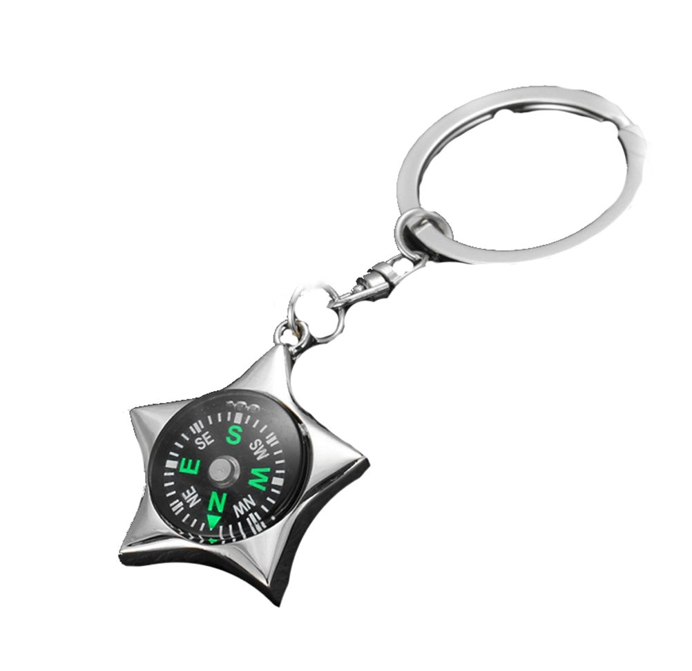 Yonger Outdoor Camping Hiking Survival Compass Pendant Keychain Bracelet Compass Key Ring (2)