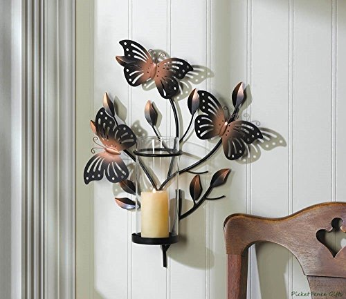 Bouncy Butterfly Wall Sconce Metal Art (Butterfly Table Sconce)