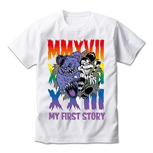 MY FIRST STORY(マイファーストストーリー) ''MMA'' TOUR 2017 FINAL 公式グッズ 幕張限定マイファス君コラボTEE(Tシャツ) ホワイト (L) L  B078LN6KWF