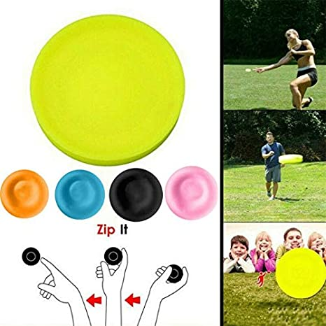 Flying Disc Pocket Flexible Mini Frisbee Finger Spin Catching Outdoor Game Toys